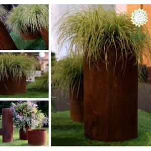 Giardineggiando fioriera in acciaio corten misura cm for Acciaio corten prezzo al kg