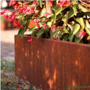 Giardineggiando bordura per aiuole acciaio corten for Acciaio corten prezzo al kg